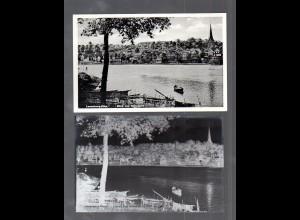 Y14852/ Lauenburg Elbe Blick von Hohnstorf AK + Negativ ca.1940