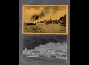 Y14845/ Lauenburg Elbdampfer AK + Negativ ca.1940