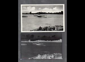 Y14836/ Lauenburg Blick auf Hohnstorf Elbdampfer AK + Negativ ca.1940