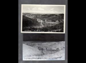 Y14815/ Geesthacht Blick über die Heidberge AK + Negativ ca.1950