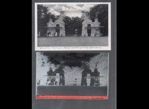 Y14923/ Hamburg Stellingen Hagenbeck Zoo AK + Negativ ca.1955