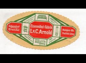 Y14959/ Reklamemarke Eisenmöbel-Fabrik Arnold Schorndorf, Stendal, Kempen