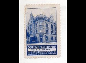 Y14963/ Reklamemarke Ostend-Apotheke Heilbronn ca.1912