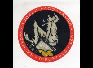 Y14968/ Reklamemarke 100 Jahre Stadtsparkasse Bielefeld 1925