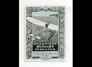 Y14967/ Reklamemarke Champagne Ruinart Pere & Fils 1910 Flugzeug