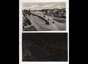 Y14975/ Hamburg Harburg Elbrücken AK + Negativ ca.1955