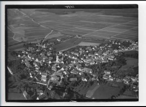 ZZ-0136/ Dellmensingen bei Erbach seltenes Foto Luftbild ca.1938 18 x 13 cm