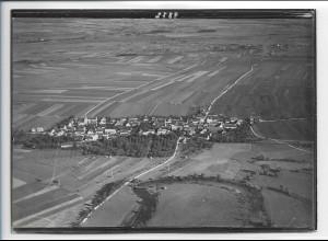 ZZ-0138/ Ersingen b. Erbach seltenes Foto Luftbild 1937 18 x 13 cm