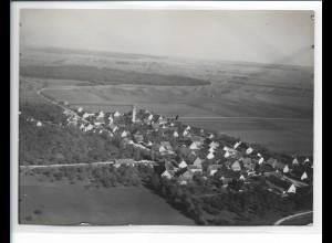 ZZ-0139/ Ersingen b. Erbach seltenes Foto Luftbild 1937 18 x 13 cm