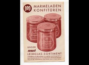 Y15143/ geg Marmeladen-Konfitüren Faltblatt ca.1960 Werbung