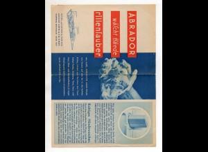 C3827/ Abrador Seifen-Fabrik August Luhn & Co. Wuppertal altes Werbeblatt