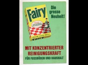 Y15141/ Fairy Reinigungsmittel Reklame Werbung Faltblatt ca.1965