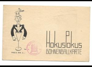 Y15618/ Hamburg Hokuspokus Bühnenballkarte im Thalia ca.1935