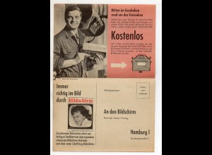Y15140/ Zeitschrift Bildschirm 1960 Gutschein Werbung