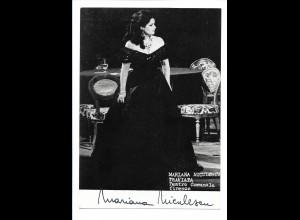 C3635/ Mariana Niculescu Opernsängerin Autogramm 1978