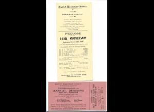 C3626/ Baptist Missonary Society Birmingham 1928 Programm + Ticket