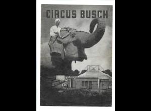 C3625/ Circus Zirkus Busch Faltblatt ca.1940-50