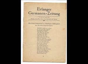 C3623/ Erlangen Erlanger Germanen-Zeitung Burschenschaft Studentika Heft 1949