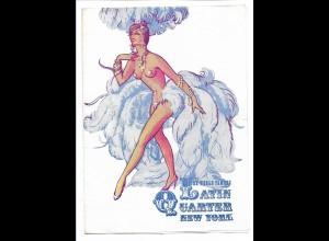C3606/ Latin Quarter New York USA Variete Programm 1964 postalisch gelaufen