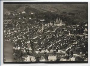 ZZ-0308/ Mergentheim seltenes Foto Luftbild ca.1938 18 x 13 cm