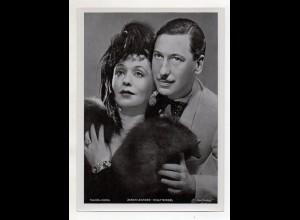 C3316/ Schauspieler Zarah Leander + Willy Birgel Ross Bild 18 x 13 cm ca.1935