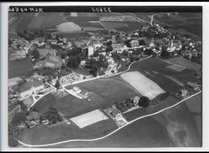ZZ-0199/ Haag i. Oberbayern seltenes Foto Luftbild 1938 18 x 13 cm