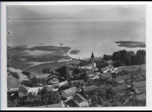 ZZ-0204/ Seebruck am Chiemsee seltenes Foto Luftbild 1938 18 x 13 cm