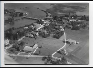 ZZ-0205/ Seebruck am Chiemsee seltenes Foto Luftbild 1938 18 x 13 cm