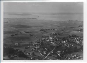 ZZ-0209/ Übersee Chiemsee seltenes Foto Luftbild 1938 18 x 13 cm