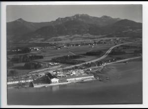ZZ-0212/ Bernau KdF-Bad seltenes Foto Luftbild 1938 18 x 13 cm