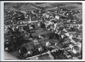 ZZ-0534/ Prien am Chiemsee seltenes Foto Luftbild ca.1938 18 x 13 cm
