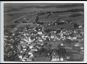 ZZ-0213/ Prien am Chiemsee seltenes Foto Luftbild 1938 18 x 13 cm