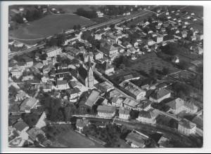 ZZ-0214/ Prien am Chiemsee seltenes Foto Luftbild 1938 18 x 13 cm