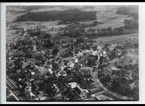 ZZ-0215/ Prien am Chiemsee seltenes Foto Luftbild 1938 18 x 13 cm