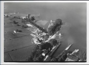 ZZ-0216/ Stock bei Prien seltenes Foto Luftbild 1938 18 x 13 cm