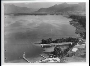 ZZ-0218/ Stock bei Prien seltenes Foto Luftbild 1938 18 x 13 cm