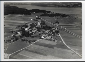 ZZ-0221/ Baierbach bei Rosenheim seltenes Foto Luftbild 1938 18 x 13 cm