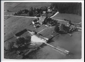 ZZ-0222/ Baierbach bei Rosenheim seltenes Foto Luftbild 1938 18 x 13 cm