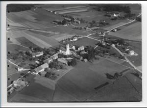 ZZ-0223/ Stephanskirchen b. Rosenheim seltenes Foto Luftbild 1938 18 x 13 cm