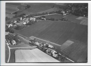 ZZ-0231/ Schmalzmaier b. Pliening seltenes Foto Luftbild 1935 18 x 13 cm
