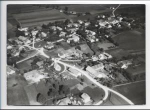 ZZ-0232/ Pliening seltenes Foto Luftbild 1938 18 x 13 cm