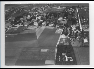 ZZ-0236/ Feldkirchen b. München seltenes Foto Luftbild 1935 18 x 13 cm