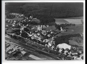 ZZ-0237/ Kirchseeon seltenes Foto Luftbild 1939 18 x 13 cm