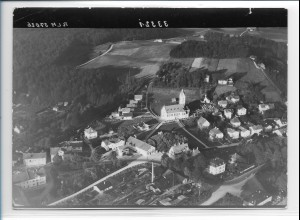 ZZ-0238/ Kirchseeon seltenes Foto Luftbild 1939 18 x 13 cm