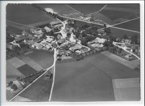 ZZ-0243/ Parsdorf b. München seltenes Foto Luftbild 1938 18 x 13 cm