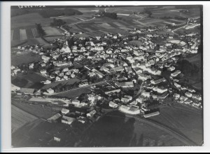 ZZ-0246/ Marktgrafing b. München seltenes Foto Luftbild 1938 18 x 13 cm
