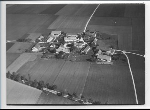 ZZ-0252/ Hausen Obb. seltenes Foto Luftbild 1938 18 x 13 cm