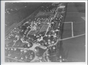 ZZ-0253/ Haar Obb. seltenes Foto Luftbild 1938 18 x 13 cm