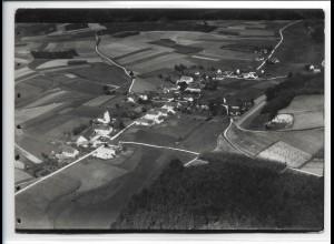 ZZ-0369/ Aufham seltenes Foto Luftbild ca.1938 18 x 13 cm