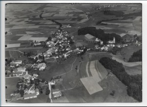 ZZ-0372/ Tegernbach b. Pfaffenhofen seltenes Foto Luftbild 1939 18 x 13cm